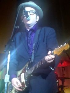 Elvis Costello at microphone